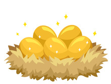 Golden Eggs Illustration