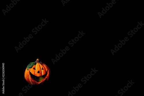 Photo Zucca di Halloween su sfondo nero I