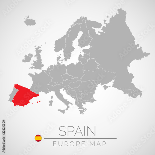 Europe Spain Map.Map Of European Union With The Identication Of Spain Map Of Spain