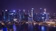 Cityscape night light view of Singapore 8