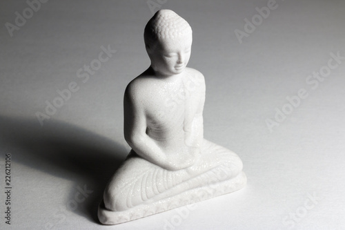 Tuinposter Boeddha white buddha statue