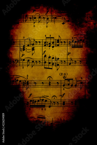 Vintage Sheet Music - Buy this stock photo and explore