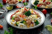 Fresh Tuna Rice Salad With Swe...