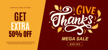 Thanksgiving Day Sale Web Bann...