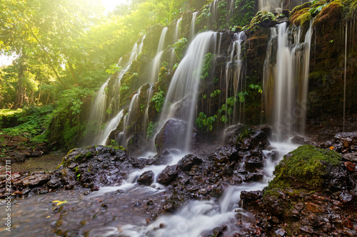 Keuken foto achterwand Watervallen Beautiful Banyu Wana Amertha waterfall in Bali Indonesia.