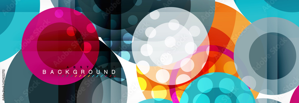 Fototapety, obrazy: Circle composition abstract background