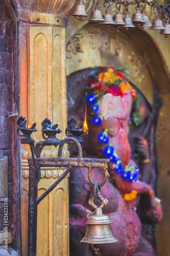 Foto op Aluminium Imagination Hindu God with Bells and Holy lamps