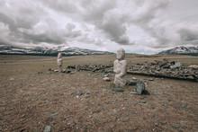 Ancient Gravestones In The Ste...