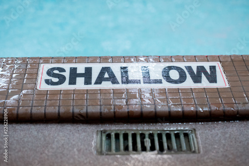 Shallow sign for Pool Canvas Print
