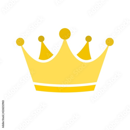 Gold crown icon Fotobehang