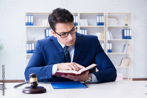 Fototapety, obrazy: Lawyer working in his office
