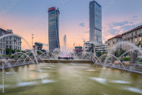 Photo sur Aluminium Milan Generali Tower or Hadid Tower, Giulio Cesare Square, Milan, Lombardy, Italy
