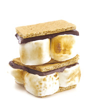 Homemade Smores Isolated On A ...