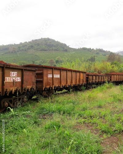 Rail transport of the main raw material of metallic aluminum is Alumina Canvas Print