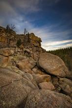 Turtle Rock At Vedauwoo In Wyoming