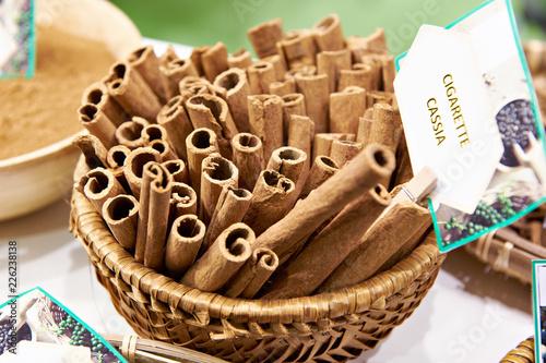 Cinnamon cigarette cassia Fototapeta