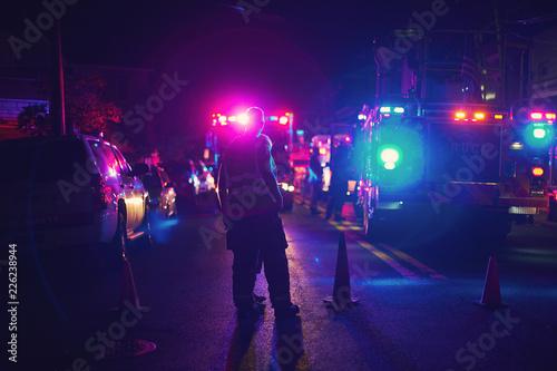 At Scene of accident Fototapeta
