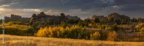 Fotografie, Tablou  Vedauwoo in the Fall Panorama