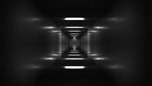 Spaceship Corridor. Futuristic...