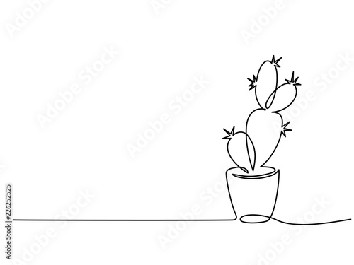 Continuous one line drawing Fototapete