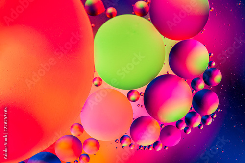 Space or planets universe cosmic abstract background. Abstract molecule sctructure. Water bubbles. Macro shot of air or molecule. Abstract space background. Selective focus