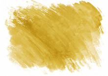 Yellow Watercolor Dry Brush Strokes. Beautiful Abstract Background. It's Useful For Graphic Design, Backdrops, Prints, Wallpaper And Etc.