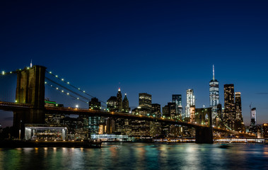 Fototapeta Panorama Miasta New York City, Brooklyn Bridge,