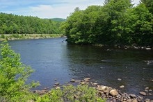 Adirondack Park, New York, USA: This Stream Is The Hudson River, Near Its Source In The Adirondack Park, Northern New York State.