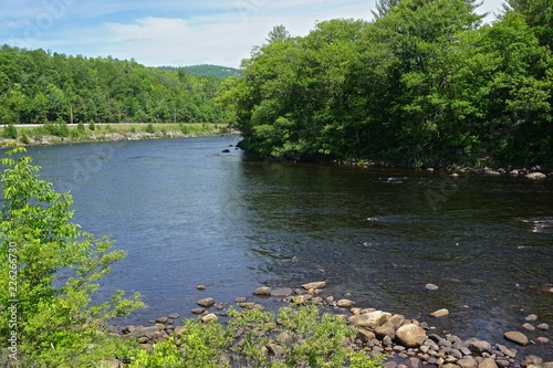 Photo Adirondack Park, New York, USA: This stream is the Hudson River, near its source in the Adirondack Park, northern New York State