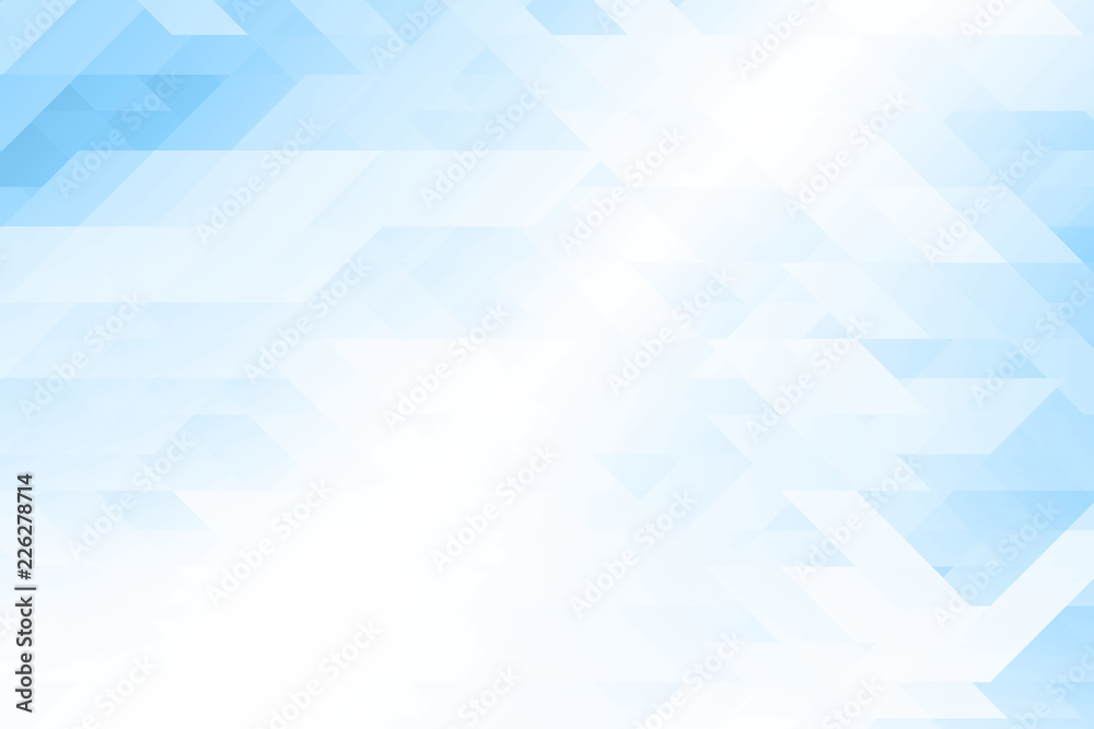Fototapeta Low poly Abstract background in blue tone.