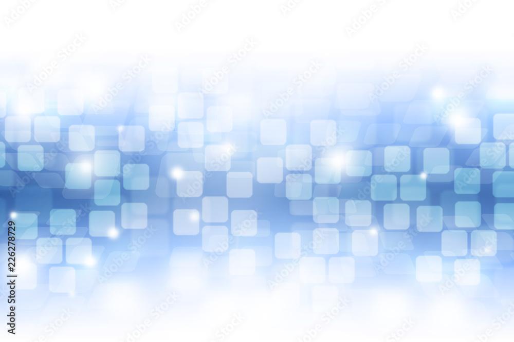 Fototapety, obrazy: Blue bokeh. Blurred light on blue background.