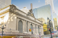 The Grand Central Terminal In Midtown Manhattan In New York,USA