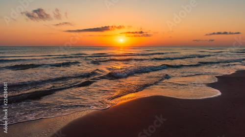 Amazing colorful sunrise at sea