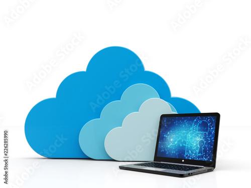 Fotomural  Cloud Computing Concept
