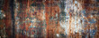 canvas print picture - Rusty metal wall, old sheet of iron covered with rust with multi-colored paint