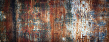 Rusty Metal Wall, Old Sheet Of...