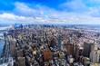 Vue de Manhattan depuis le One World Observatory, New York City