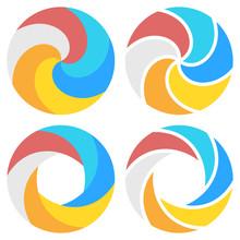 Set Of Spiral Elements Templat...