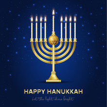 Jewish Holiday Hanukkah Backgr...