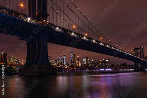 Fototapeta New York Skyline w nocy