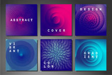 Cover Set With Abstract Backgr...