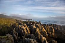 Punakaiki Pancake Rocks Sunset...