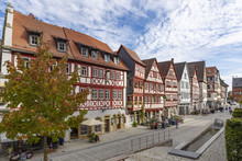 Downtown Ochsenfurt In Bavaria With Half-timbered Houses