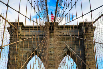 Fototapeta Industrialny Pont de Brooklyn, New York, USA