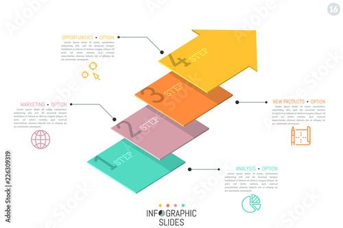 Creative infographic design template Canvas Print