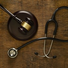 Stethoscope And Lawers Gavel