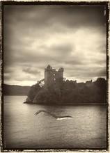 Loch Ness Monster In Water, Il...