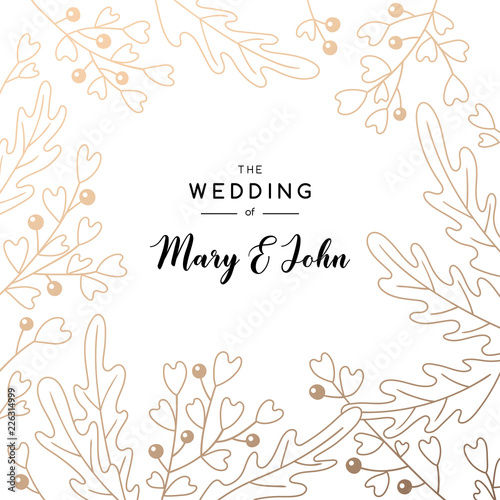Elegant Wedding Invitation Background With Place For Text