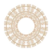 Vector Tribal Ornamental Circle .Maya Circle ,vector . Magic Talisman.