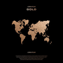 Creative Gold Map Of The World...